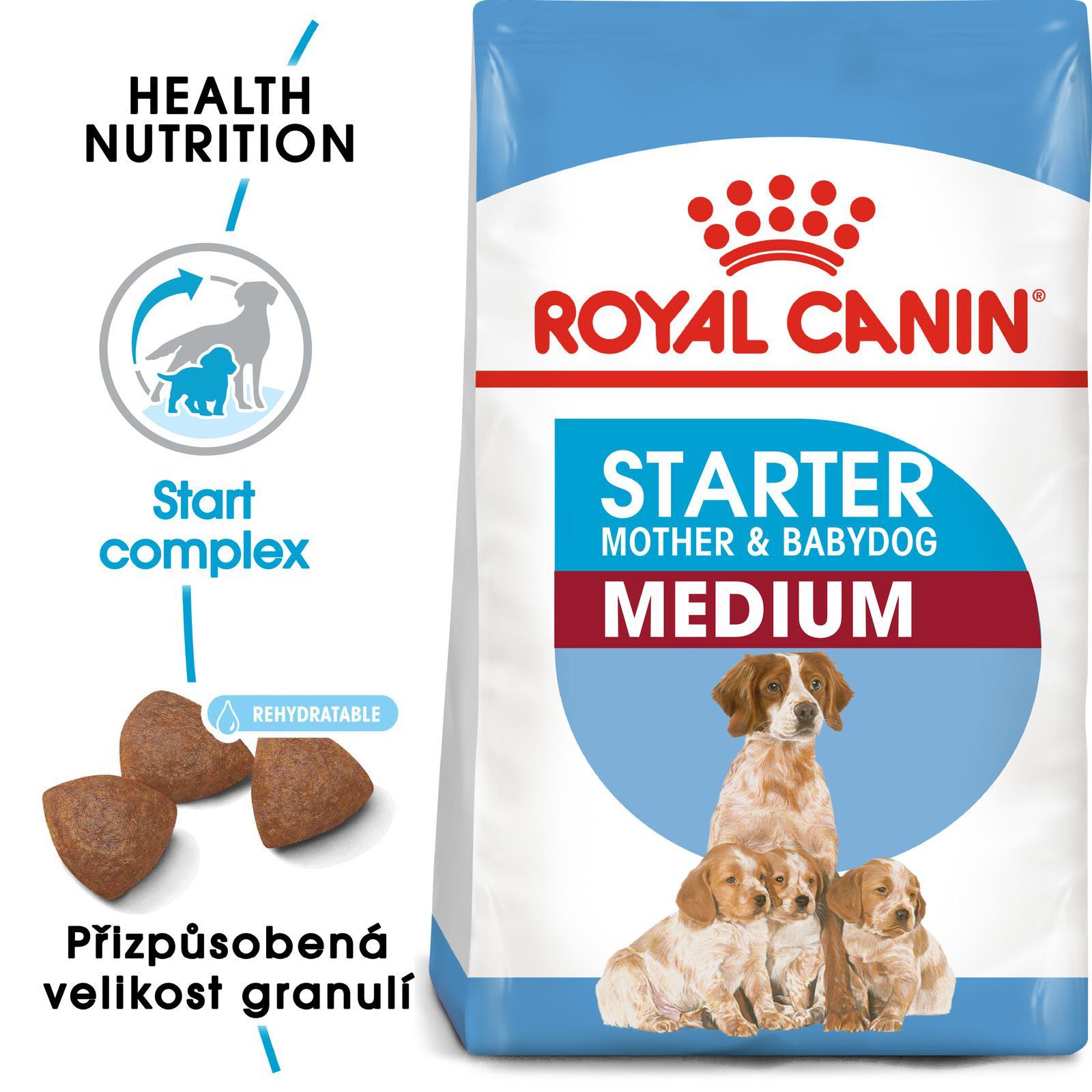 Royal Canin MEDIUM STARTER - granule pro březí nebo kojící feny a štěňata 12kg