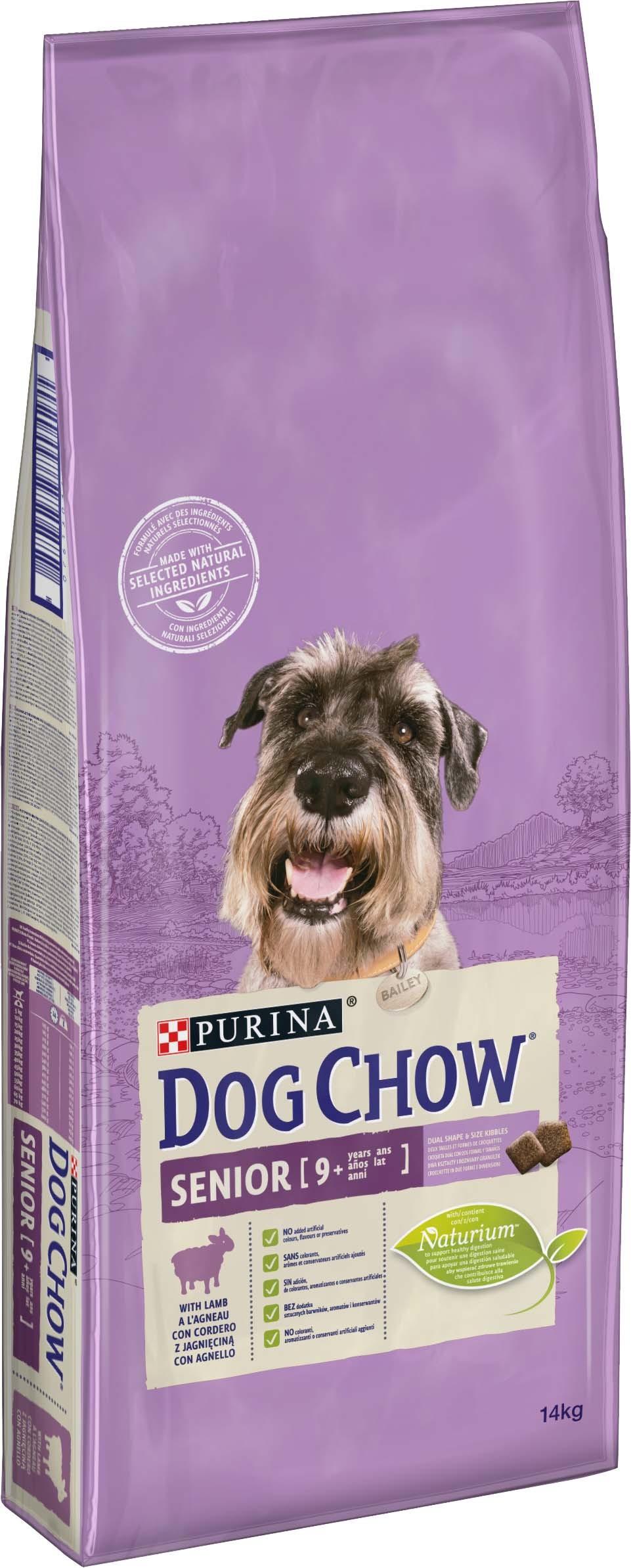 Purina dog chow senior jehněčí 14kg