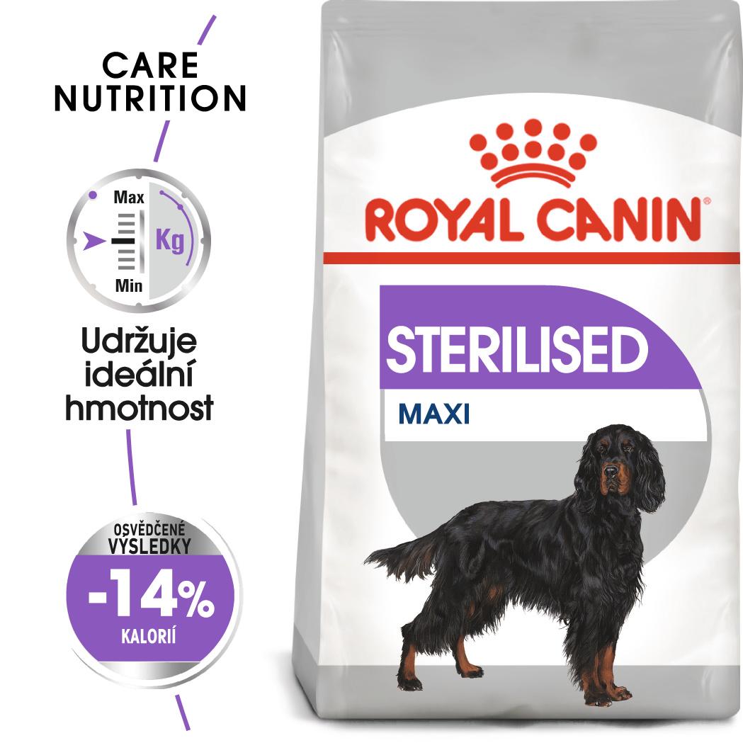 Royal Canin Maxi Sterilised - granule pro kastrované velké psy - 9kg