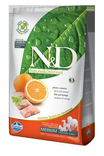 N&D dog GF ADULT MEDIUM FISH/ORANGE 12kg