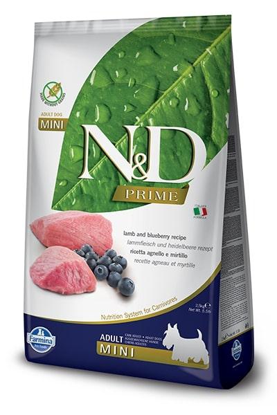 N&D dog PRIME ADULT MINI lamb/blueberry 7kg
