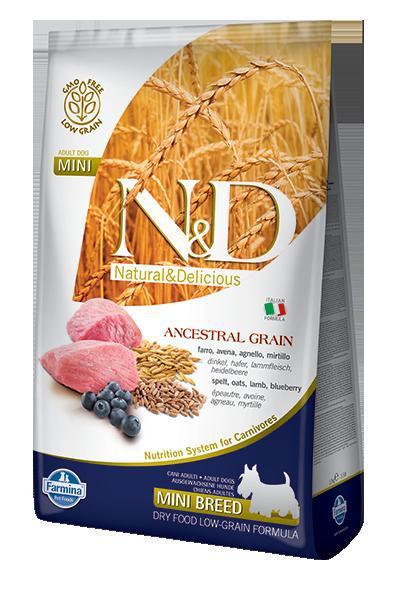 N&D dog LG ADULT MINI LAMB/BLUEBERRY 7kg