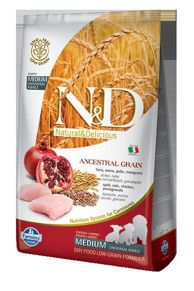 N&D dog LG PUPPY MEDIUM CHICKEN/POMEGRANATE 12kg
