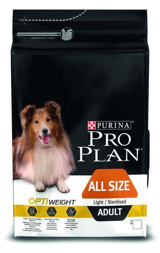 Purina PRO PLAN Dog All Size Adult Ligh & Sterilised - 3kg