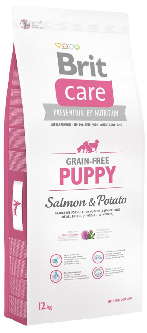 Brit Care dog Grain Free Puppy Salmon & Potato - 3kg