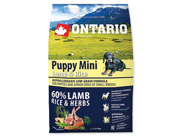 ONTARIO dog PUPPY MINI lamb - 6,5kg