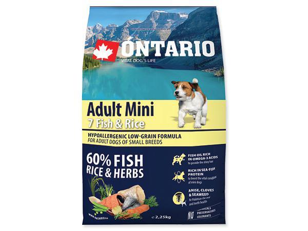 ONTARIO dog ADULT MINI fish - 6,5kg