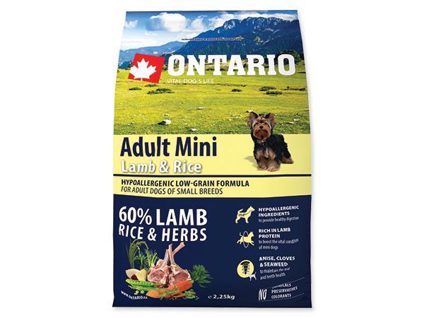 ONTARIO dog ADULT MINI lamb - 6,5kg