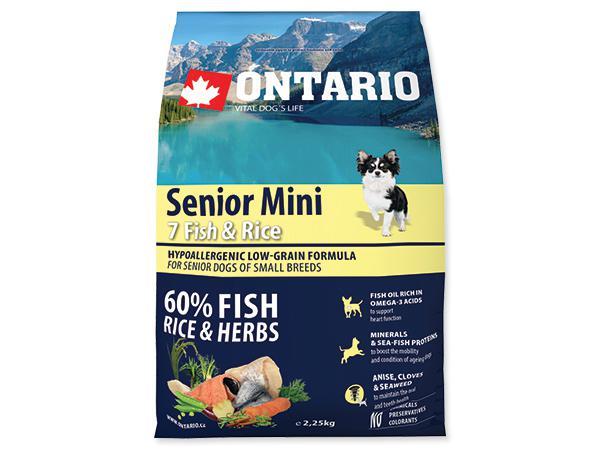 ONTARIO dog SENIOR MINI fish - 6,5kg
