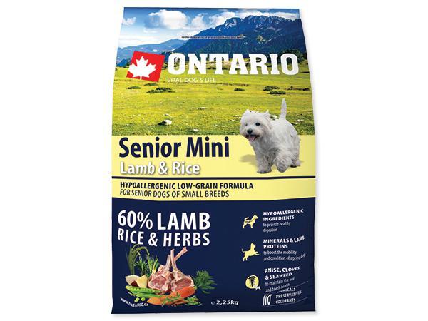 ONTARIO dog SENIOR MINI lamb - 6,5kg