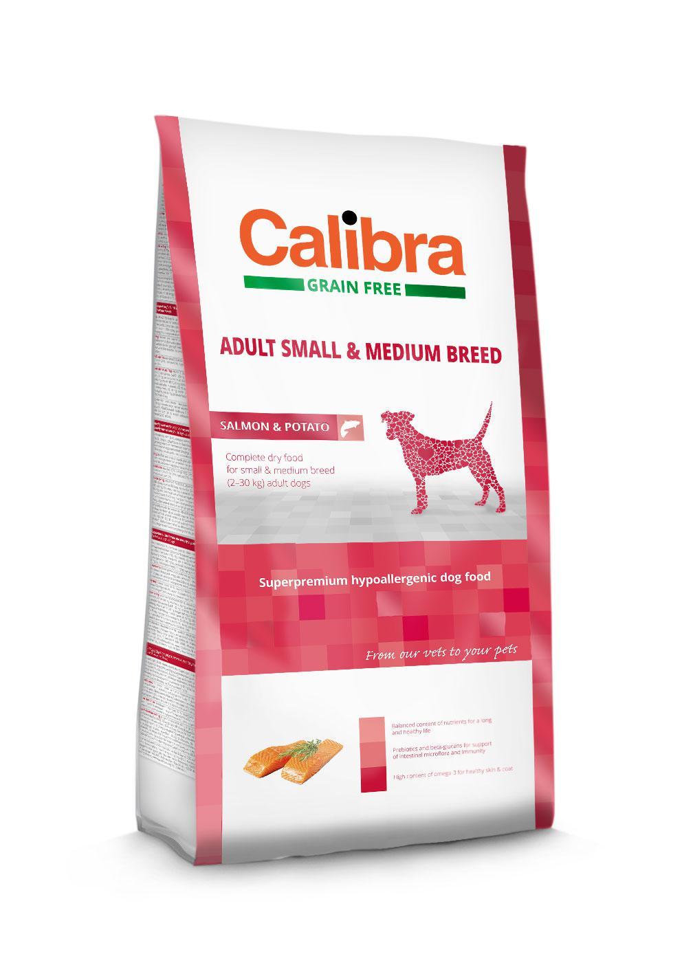 CALIBRA dog GF ADULT medium losos 12kg