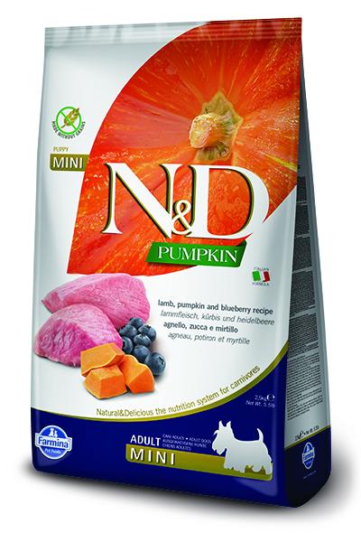 N&D dog GF PUMPKIN ADULT MINI lamb/blueberry 7kg