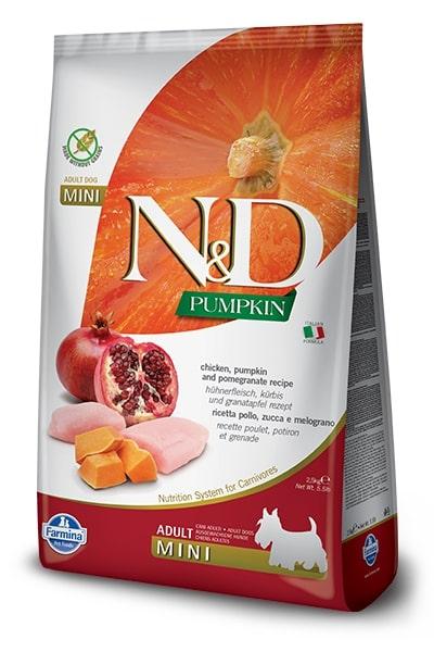 N&D dog GF PUMPKIN ADULT MINI chicken/pomegranate 7kg