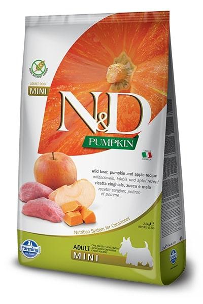 N&D dog GF PUMPKIN ADULT MINI boar/apple 7kg