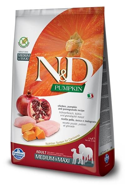 N&D dog GF PUMPKIN ADULT MEDIUM/MAXI chicken/pomegranate 12kg