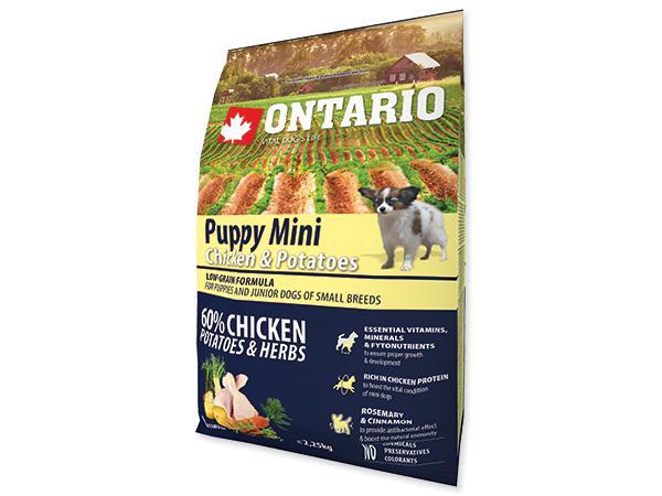 ONTARIO dog PUPPY MINI chicken - 2,25kg