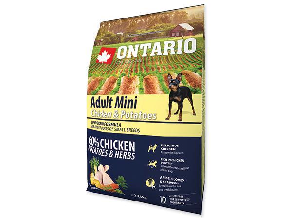 ONTARIO dog ADULT MINI  chicken - 6,5kg