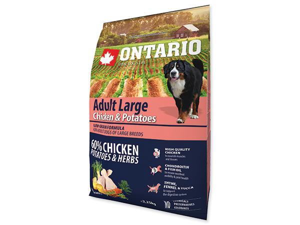 ONTARIO dog ADULT LARGE chicken - 2,25kg