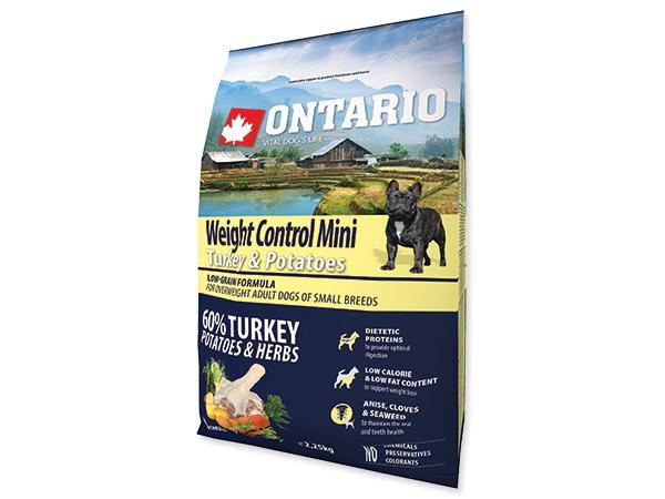 ONTARIO dog WEIGHT CONTROL MINI turkey - 6.5kg