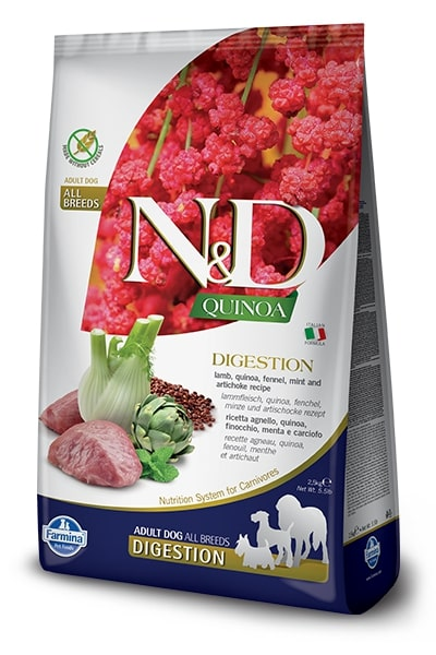 N&D dog GF QUINOA digestion LAMB/fennel - 2,5kg