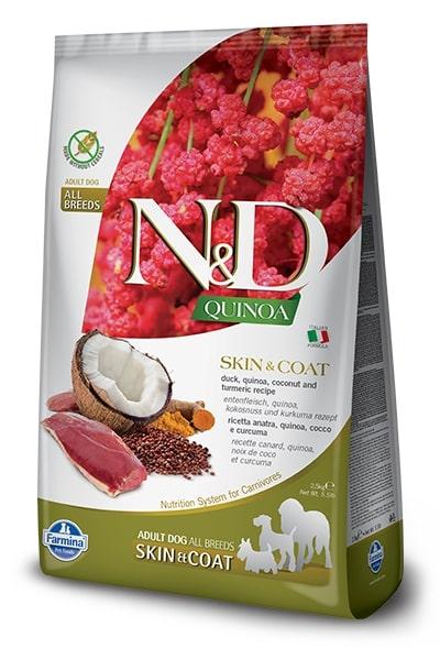 N&D dog GF QUINOA skin/coat DUCK/COCONUT - 2,5kg