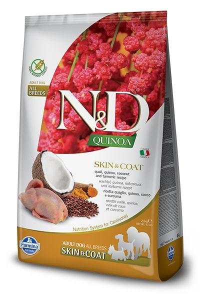 N&D dog GF QUINOA skin/coat QUAIL/COCONUT 7kg