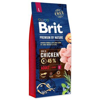 BRIT dog Premium by Nature ADULT L - 15kg + 3kg GRATIS