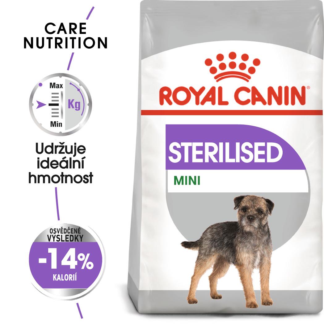 Royal Canin Mini Sterilised - granule pro kastrované malé psy - 3kg