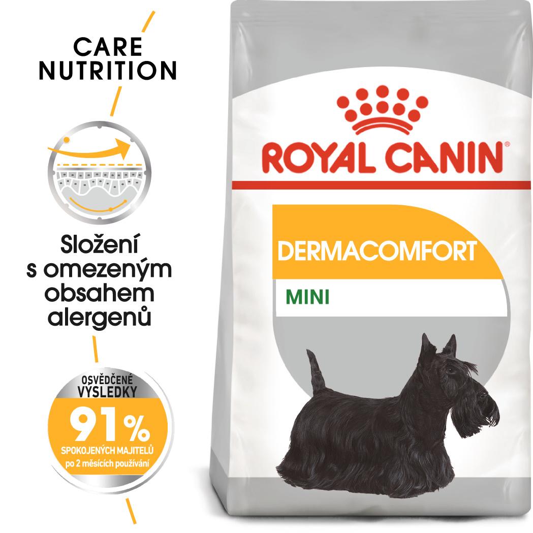 Royal Canin Mini Dermacomfort - granule pro malé psy s problémy s kůží - 3kg