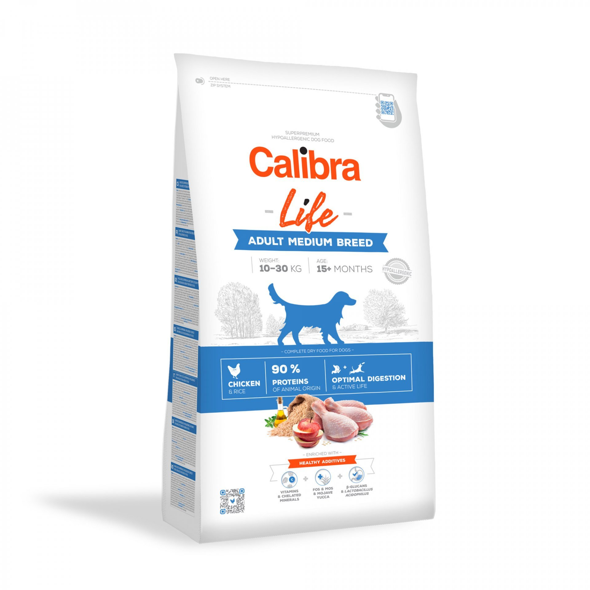 CALIBRA dog LIFE ADULT medium CHICKEN 2,5kg