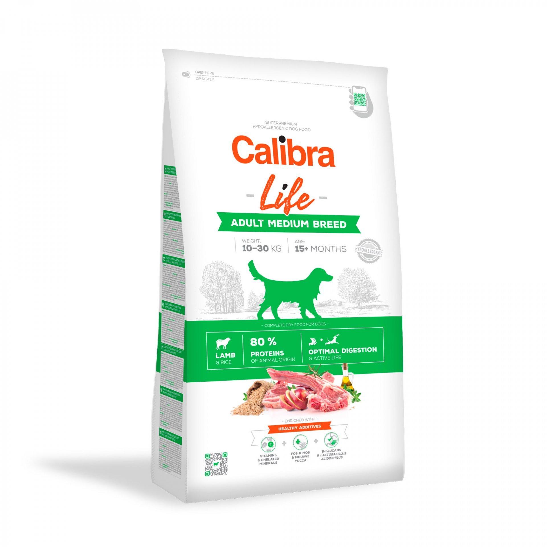 CALIBRA dog LIFE ADULT medium LAMB 2,5kg