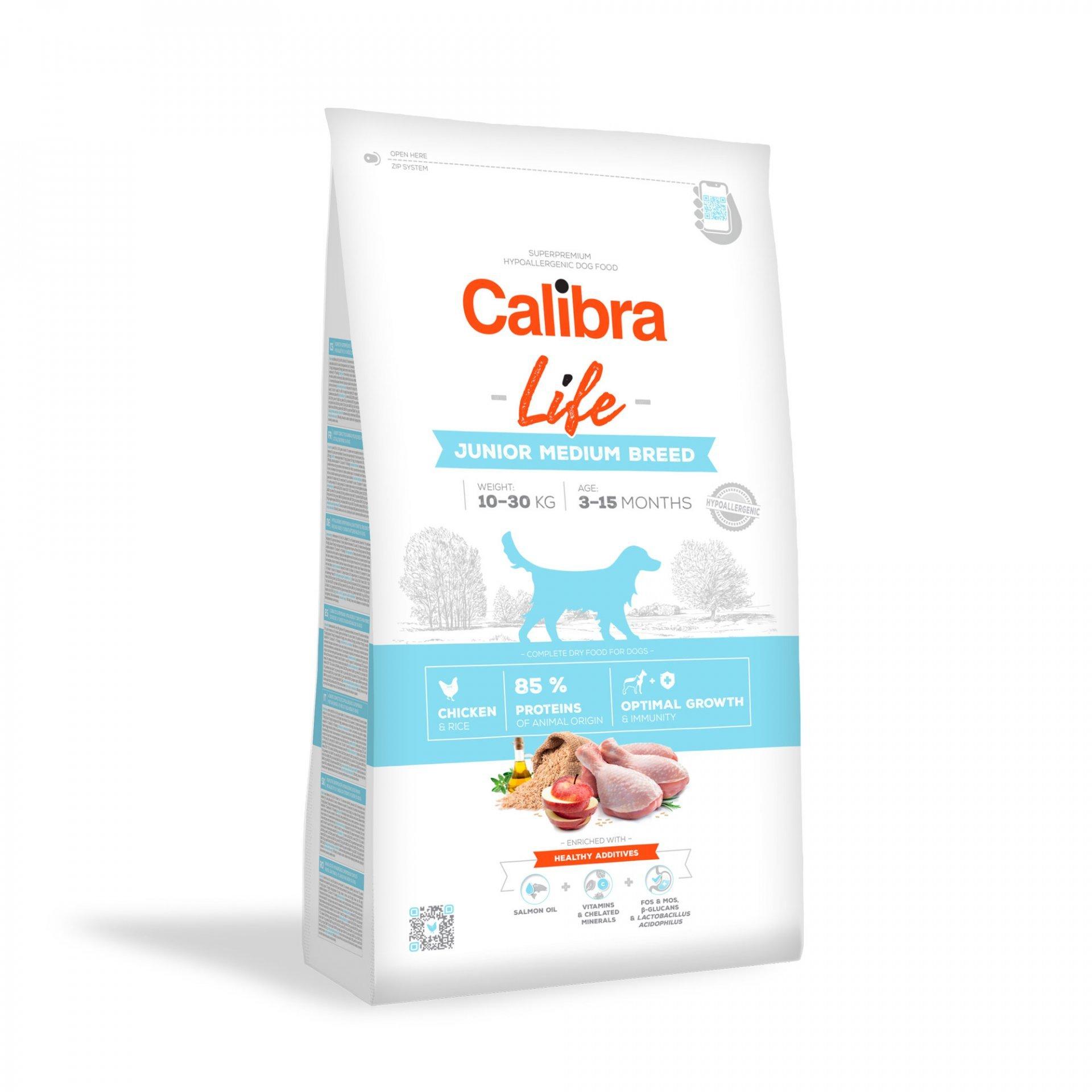 CALIBRA dog LIFE JUNIOR medium CHICKEN 12kg