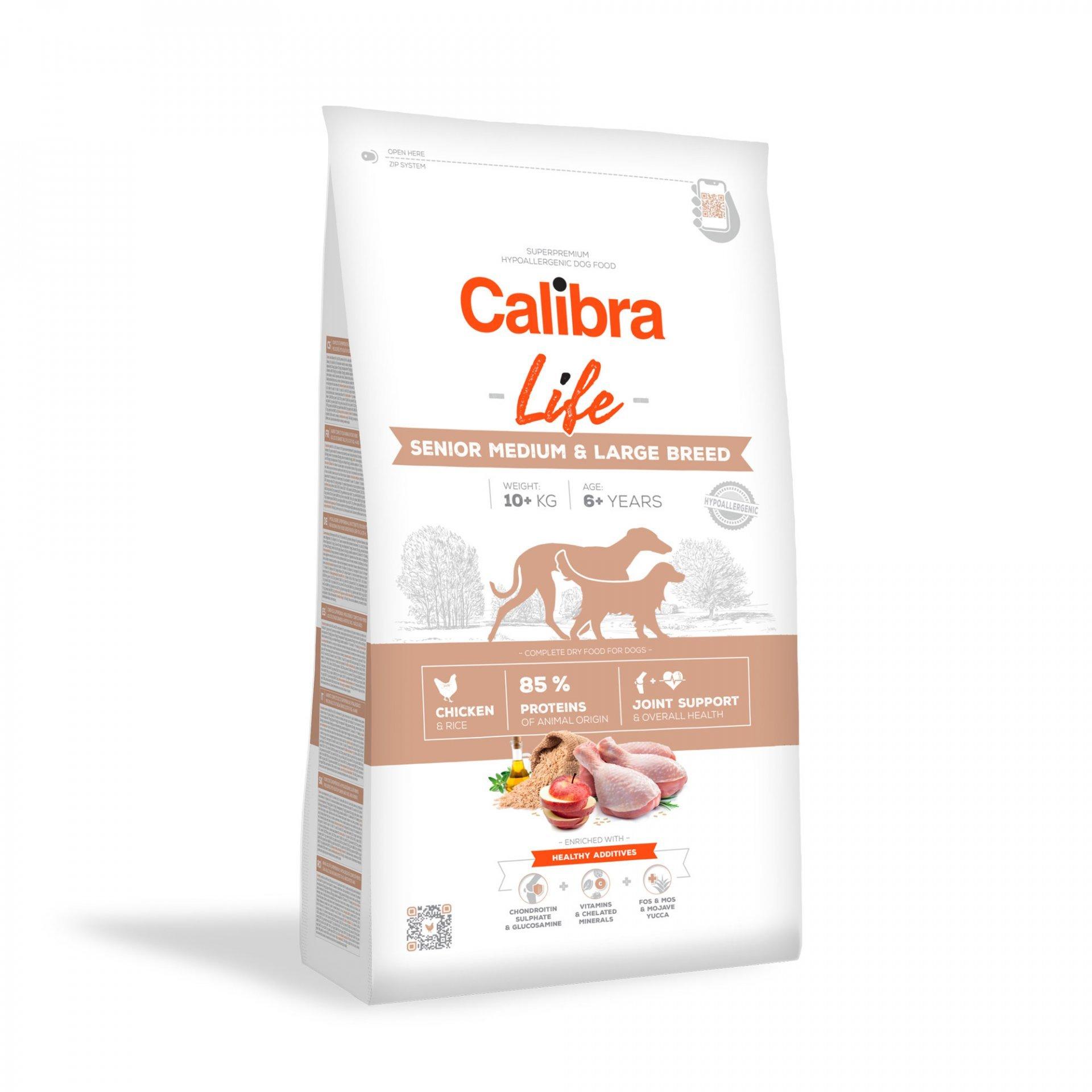 CALIBRA dog LIFE SENIOR medium & large  CHICKEN 12kg