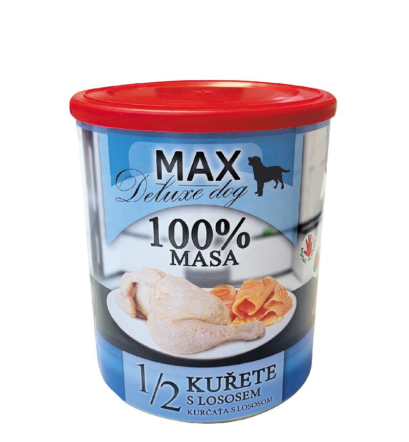 FALCO MAX 800g - 1/2 KUŘETE s lososem
