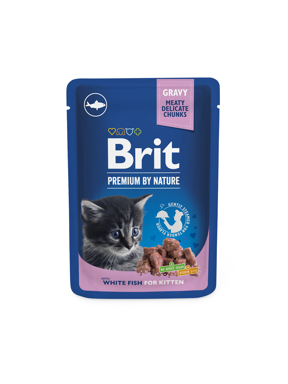 BRIT cat kapsa KITTEN 100g/WHITE fish