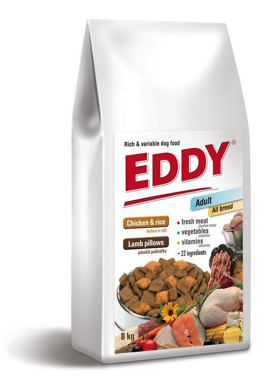 EDDY Adult All Breed kuřecí polštářky s jehněčím - 8kg - PRODEJNA
