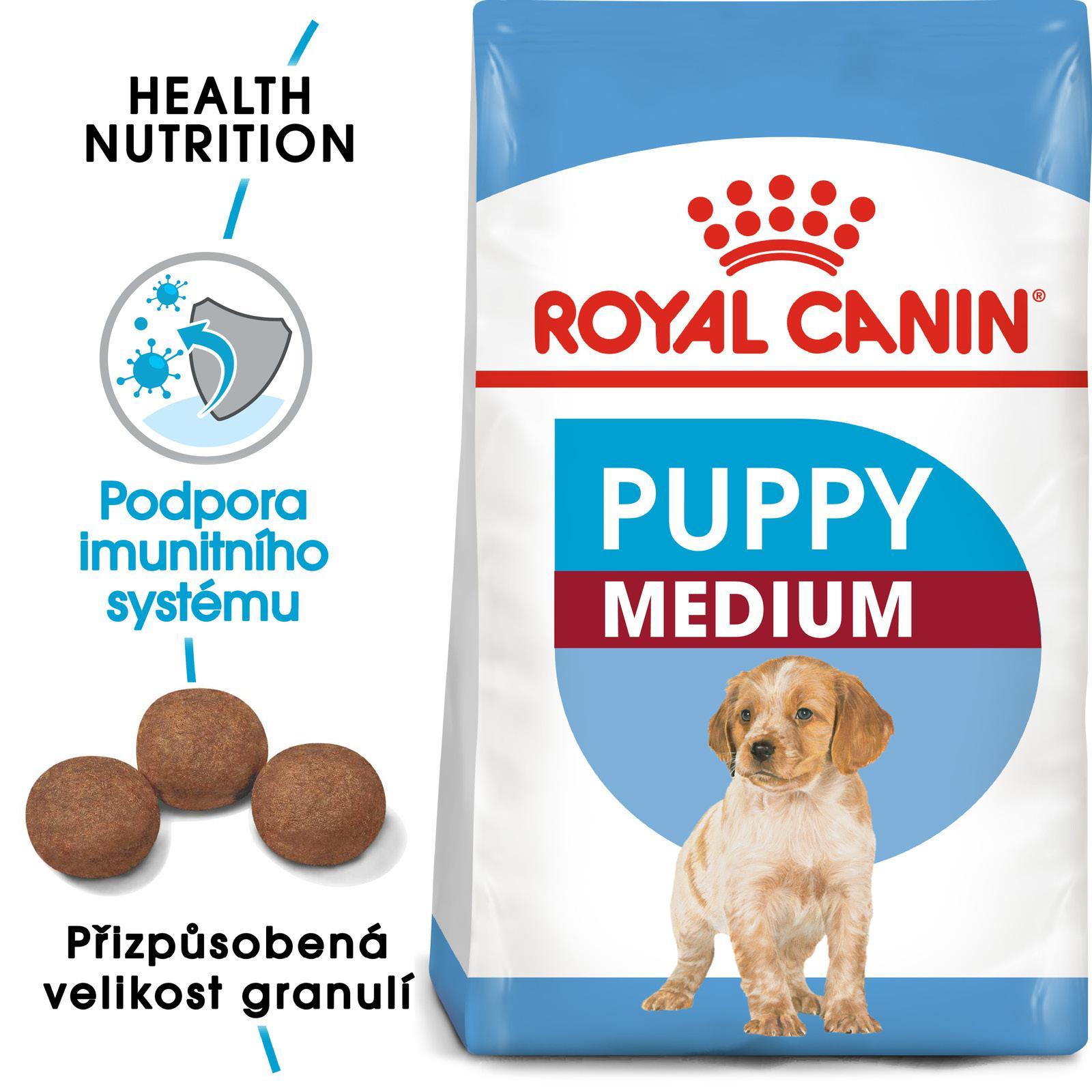 Royal Canin MEDIUM PUPPY - granule pro střední štěňata 15kg