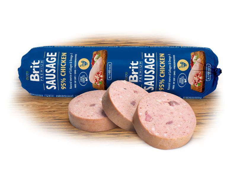 BRIT dog sausage CHICKEN/rice 800g