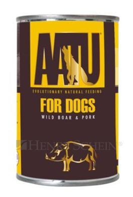 Aatu dog konzerva wild boar/pork 2x400g