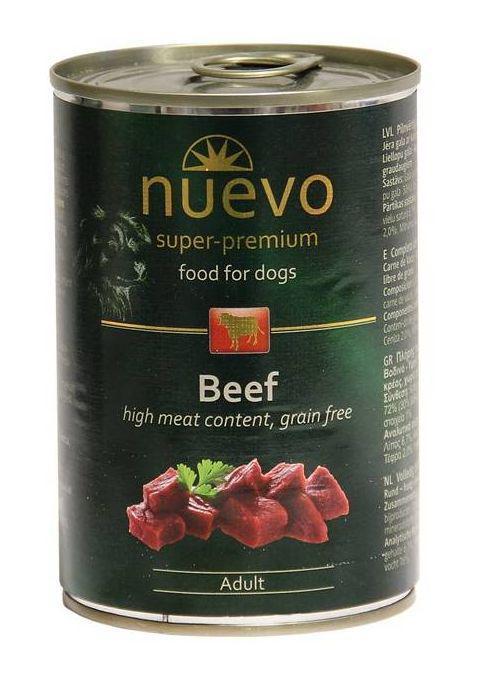 Nuevo dog konzerva adult hovězí 800g