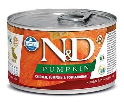 N&D dog GF PUMPKIN konz. PUPPY MINI chicken/pomegranate 140g