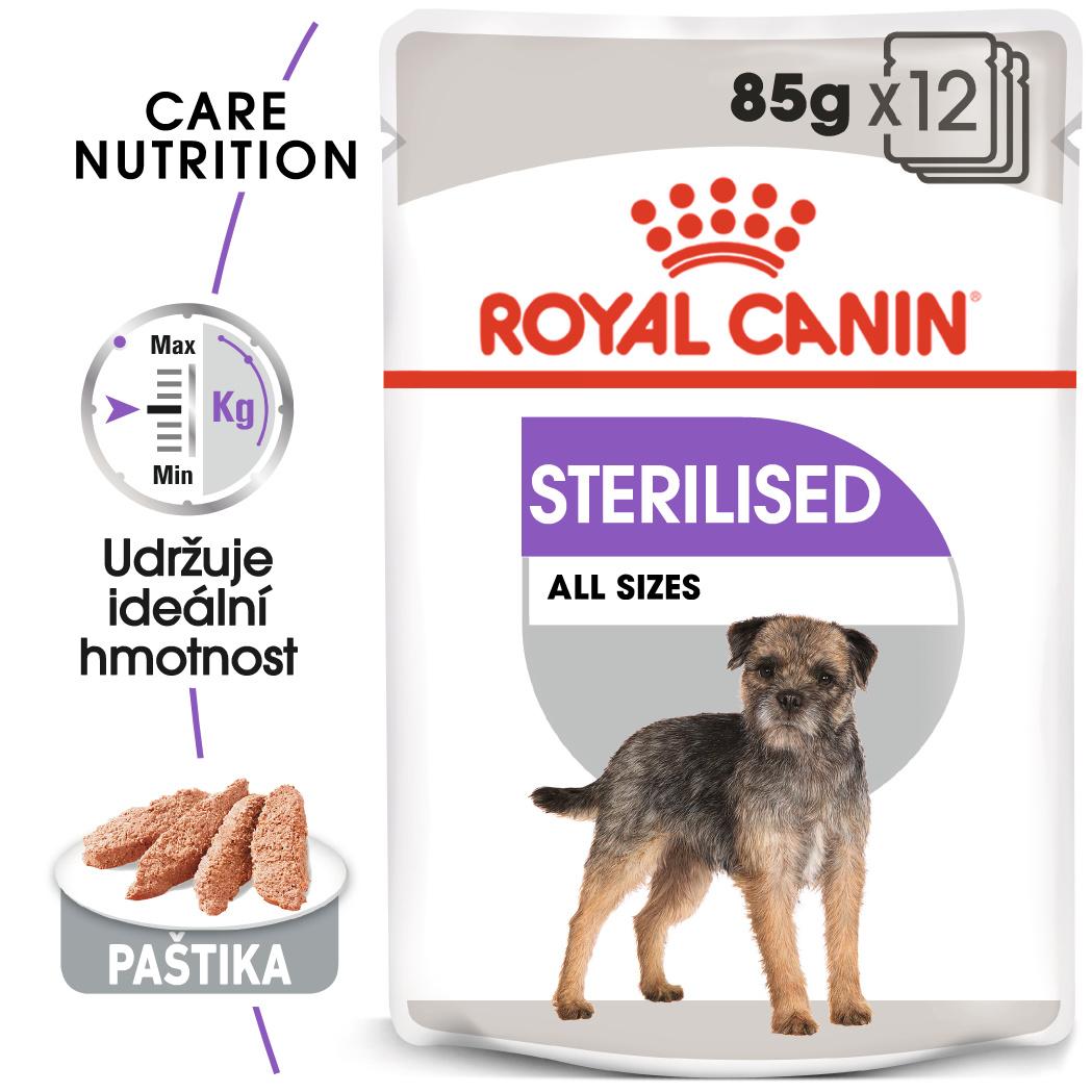Royal canin sterilised dog loaf - kapsička s paštikou pro kastrované psy 85g
