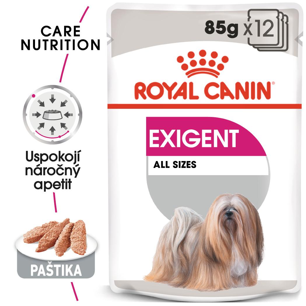 Royal canin exigent dog loaf - kapsička s paštikou pro mlsné malé psy 85g
