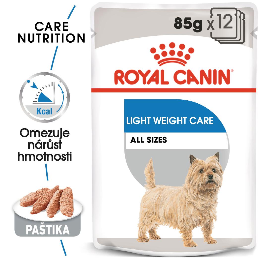 Royal canin light weight care dog loaf - dietní kapsička s paštikou pro psy 85g