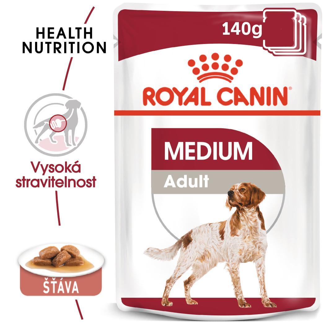 Royal Canin Medium Adult - kapsička pro dospělé střední psy - 10x140g