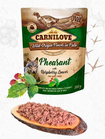 Carnilove dog kapsa  paté pheasant/raspberry leaves 300g