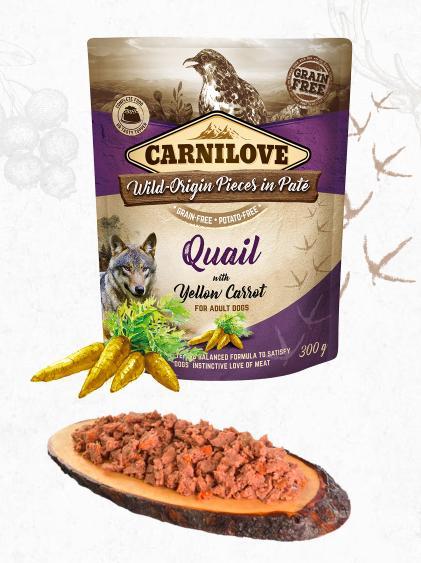 Carnilove dog  kapsa paté quail/yellow carrot 300g
