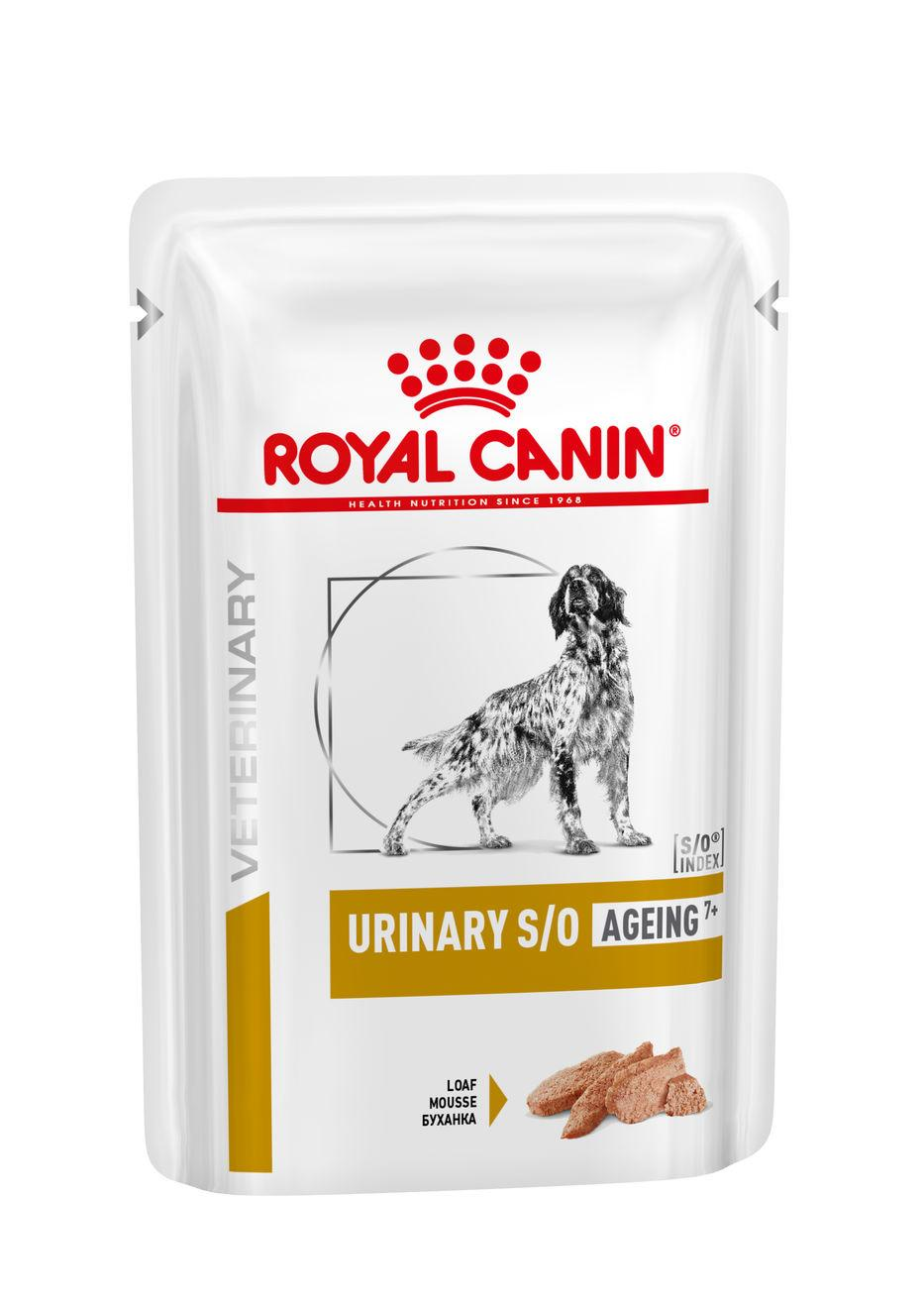 Royal canin veterinary health nutrition dog  urinary s/o age pouch loaf kapsa 85g
