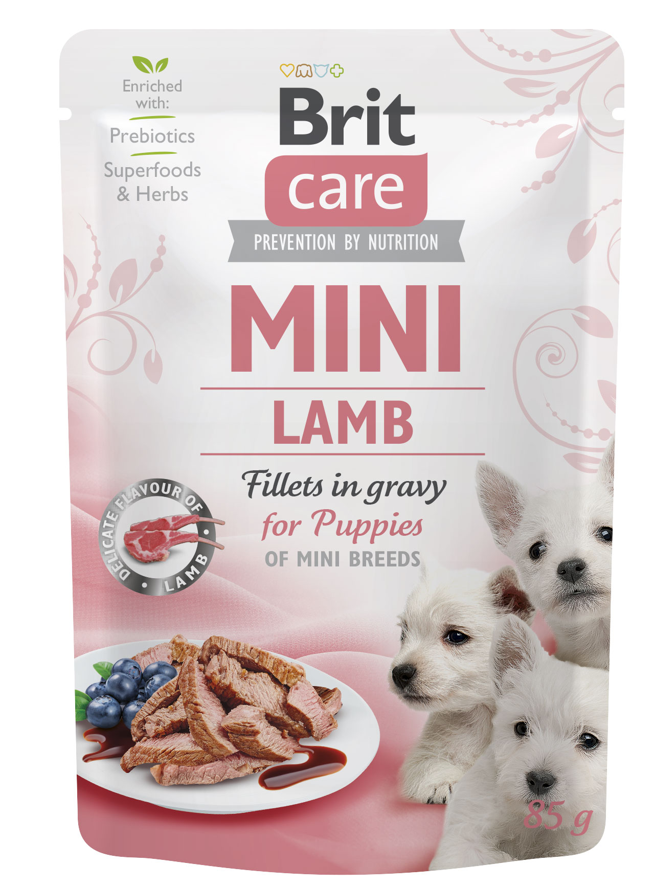 brit care dog  mini kapsa  puppies  lamb 85g