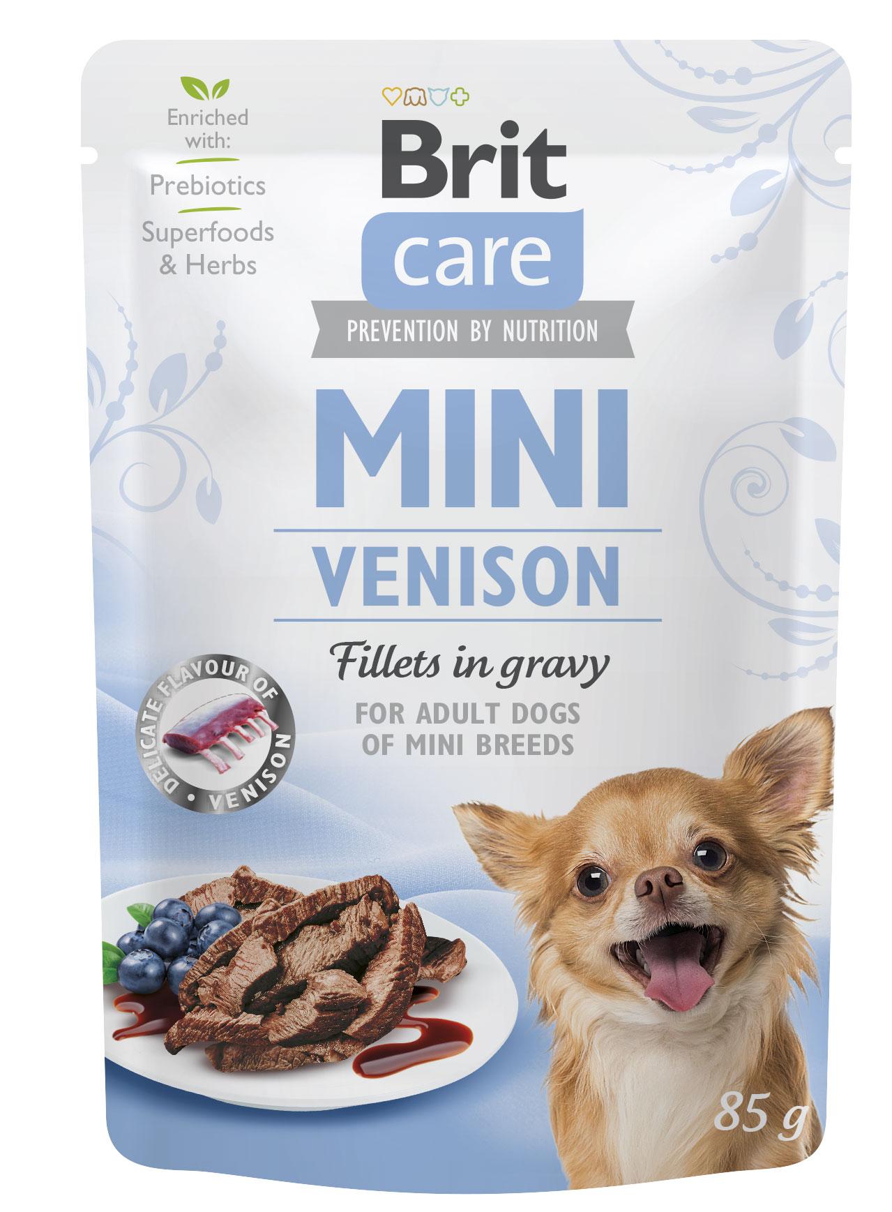 Brit care dog  mini kapsa adult  venison 85g